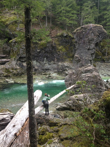 Three Pools area of the Little North Santiam hiking trail