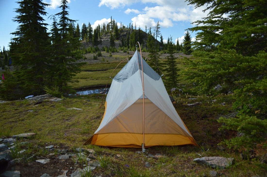 Big Agnes Fly Creek UL2 tent at Sister Spring Pacific Crest Trail Oregon