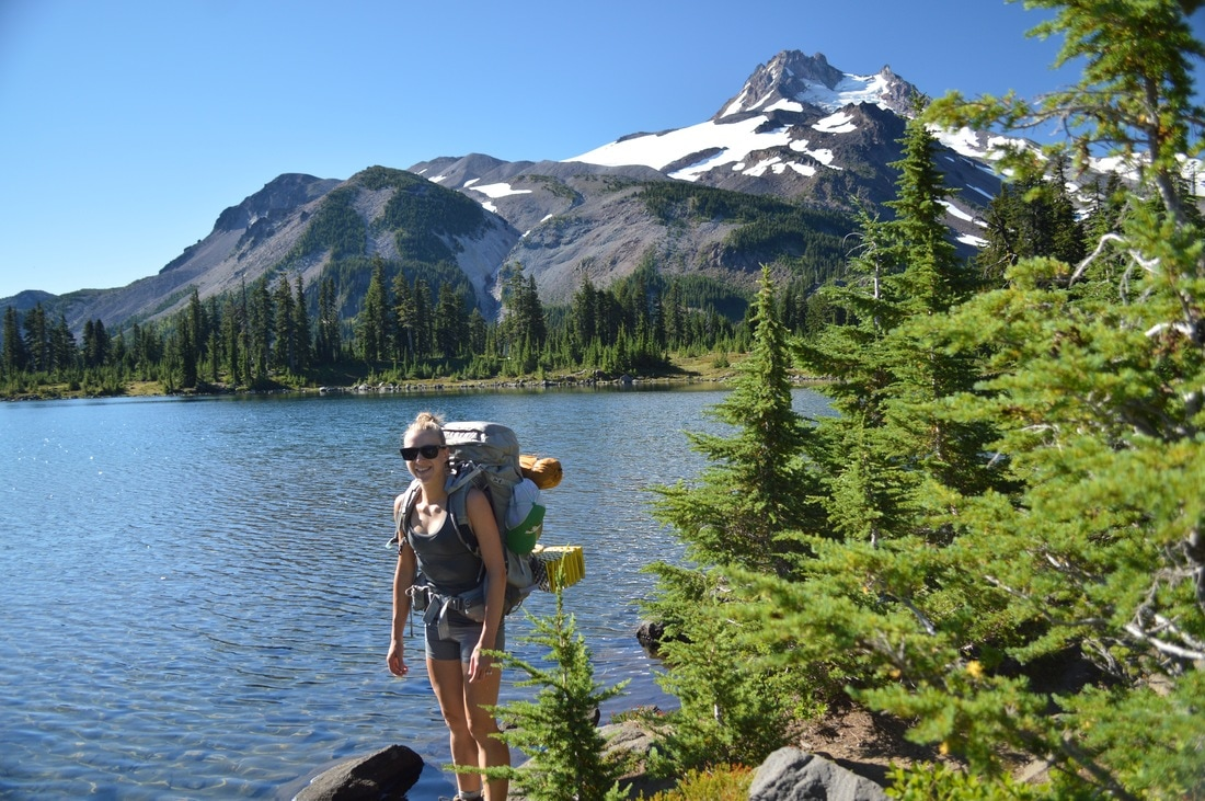 leaving Russell Lake Jefferson Park Pacific Crest Trail Oregon