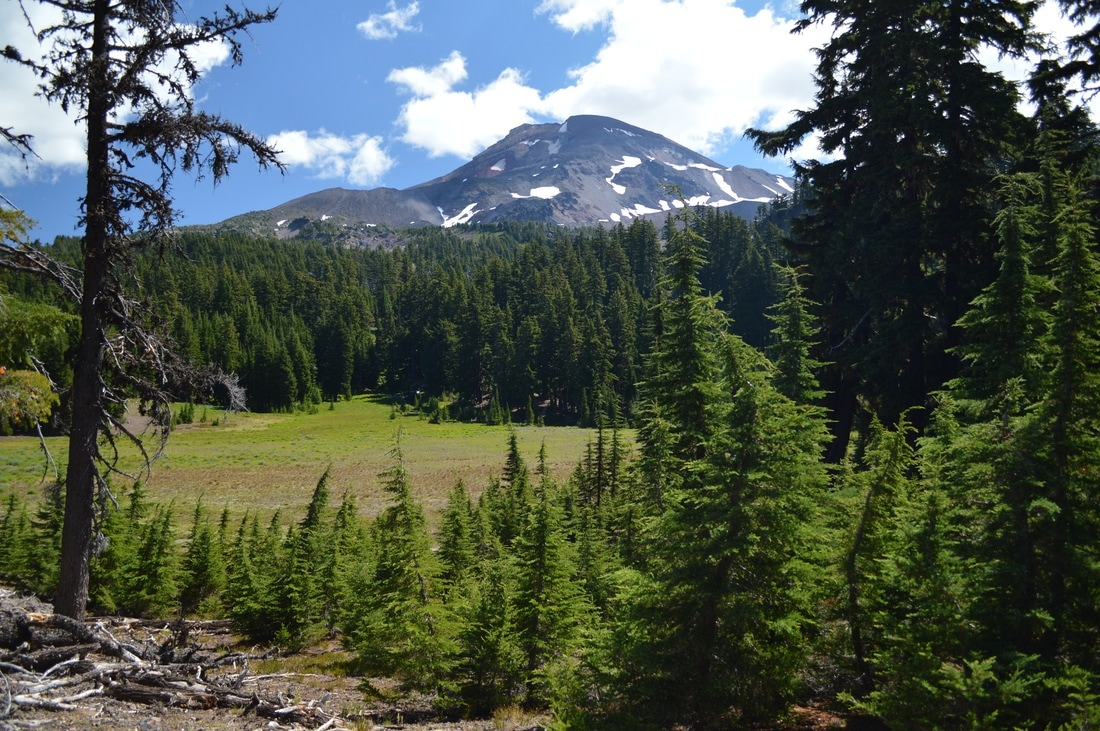 South Sister at Separation Creek Pacific Crest Trail Oregon