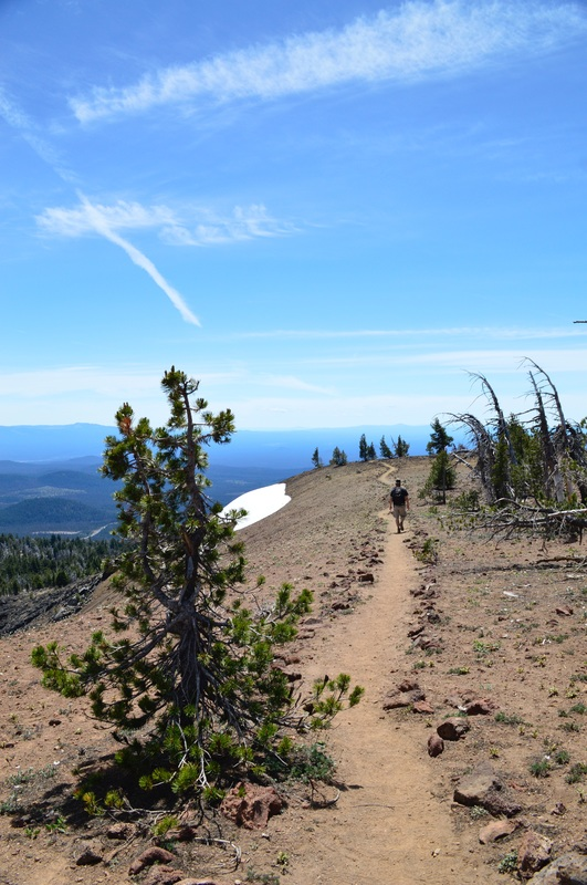 Trail on top of Tumalo Mountain