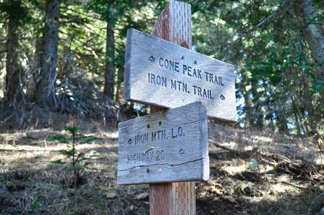 Iron Mountain trail sign