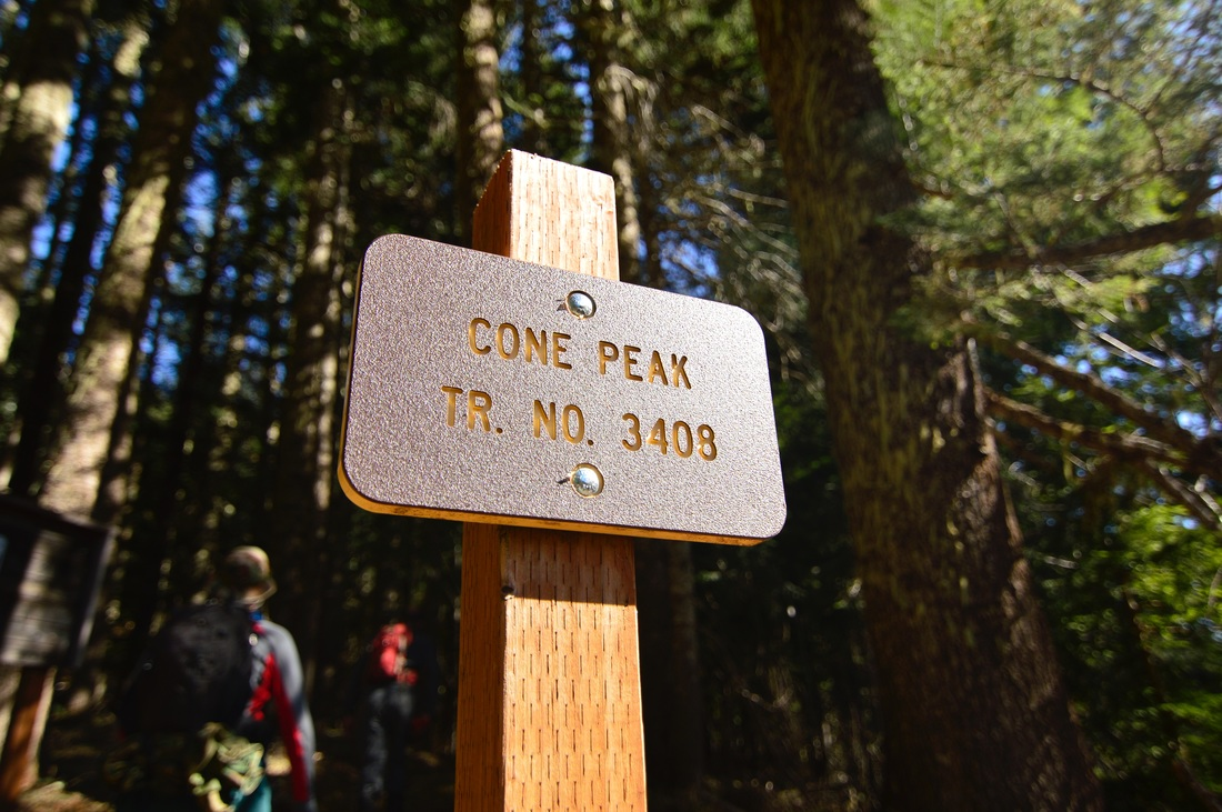 Cone Peak trail no. 3408 sign