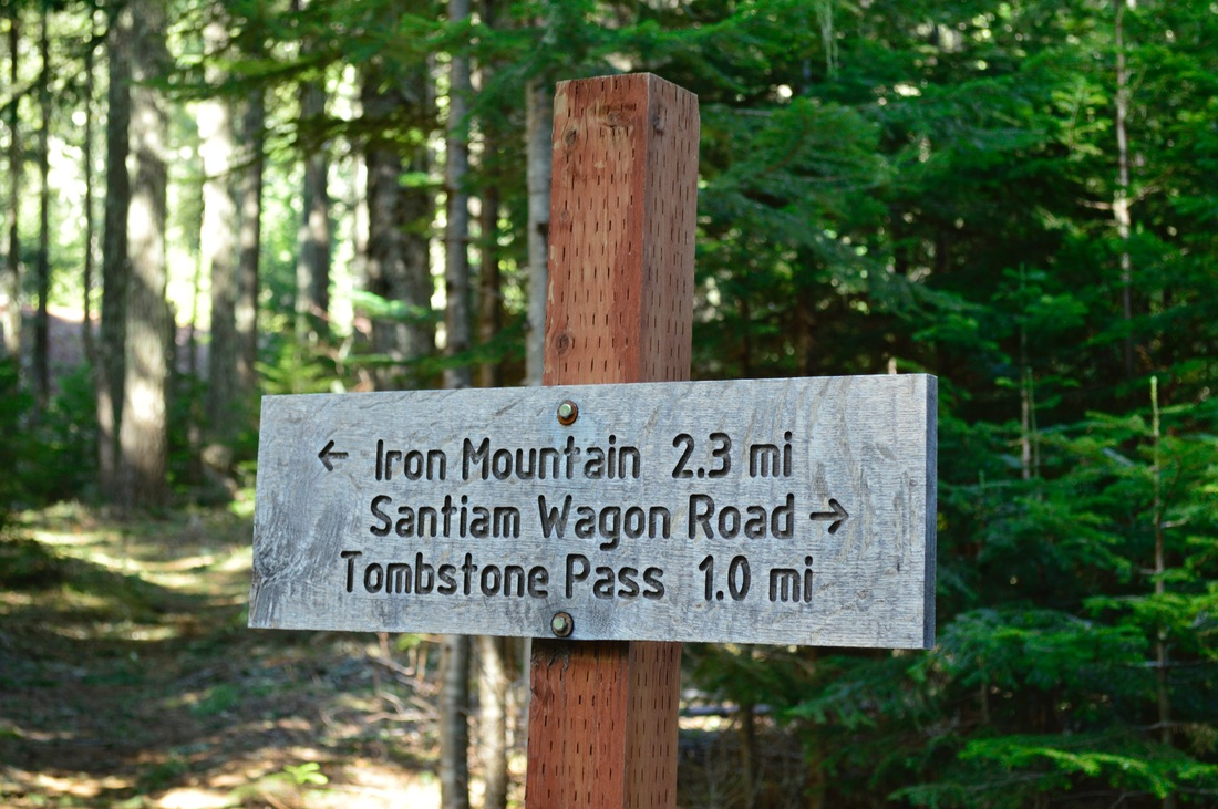 Iron Mountain to Tombstone Pass trail sign