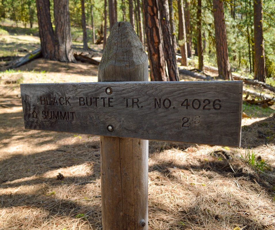 Black Butte trail sign