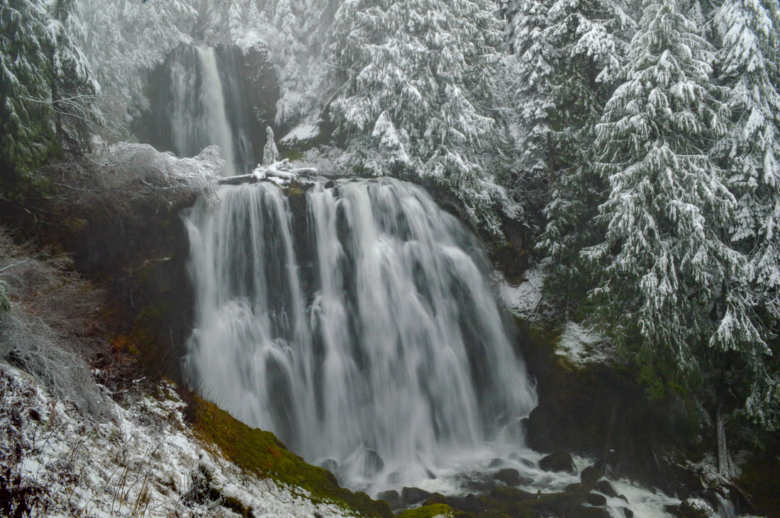 Marion Falls in winter