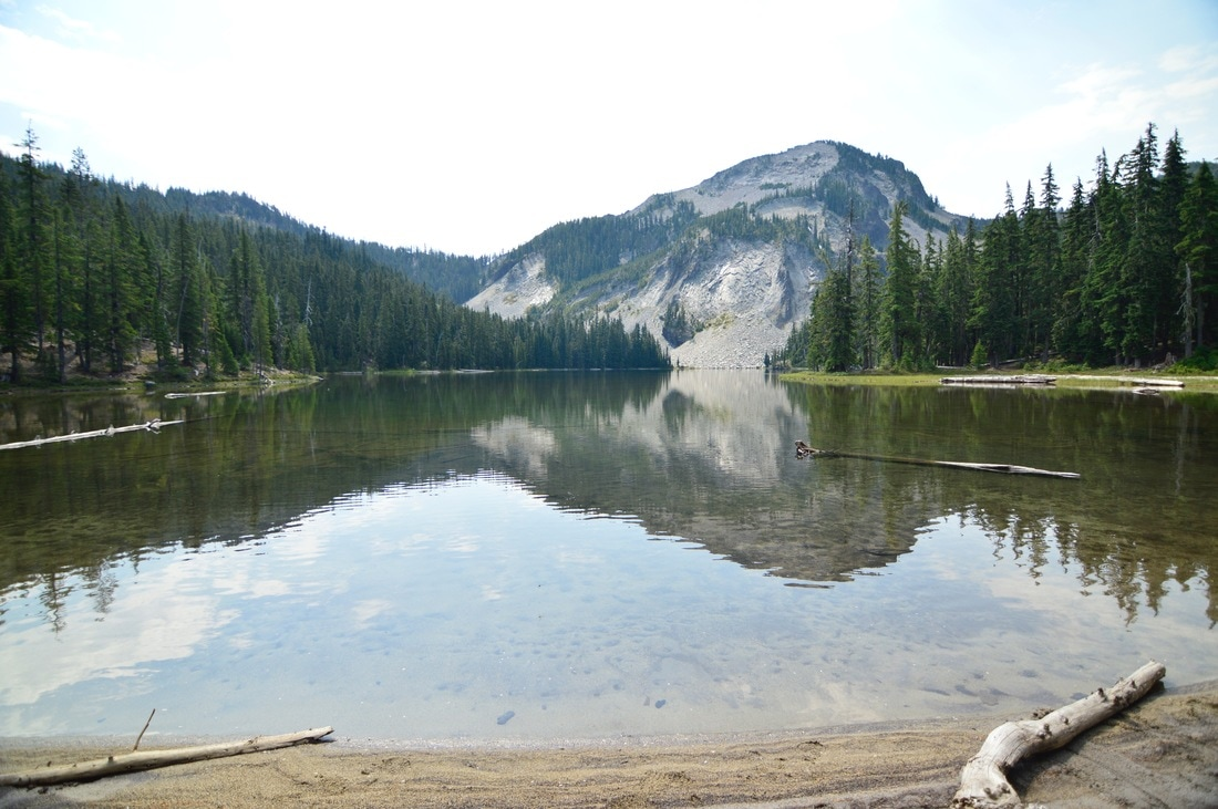 Indigo Lake and Sawtooth Mountain