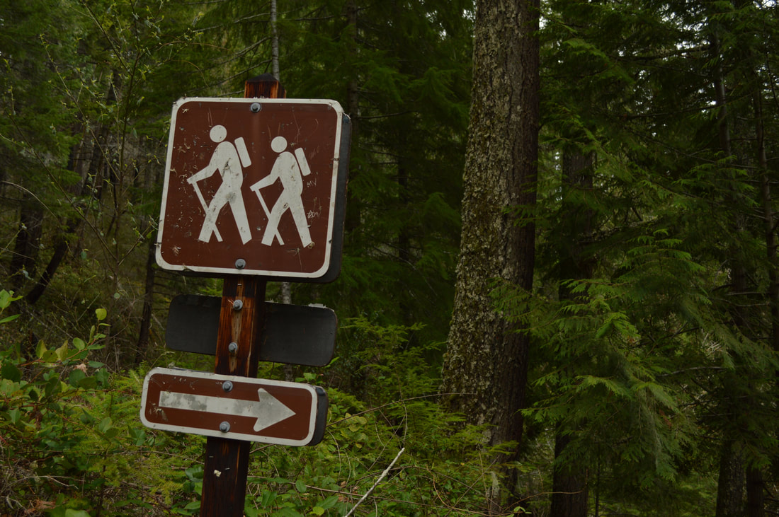 Hiker sign at Fall Creek Falls