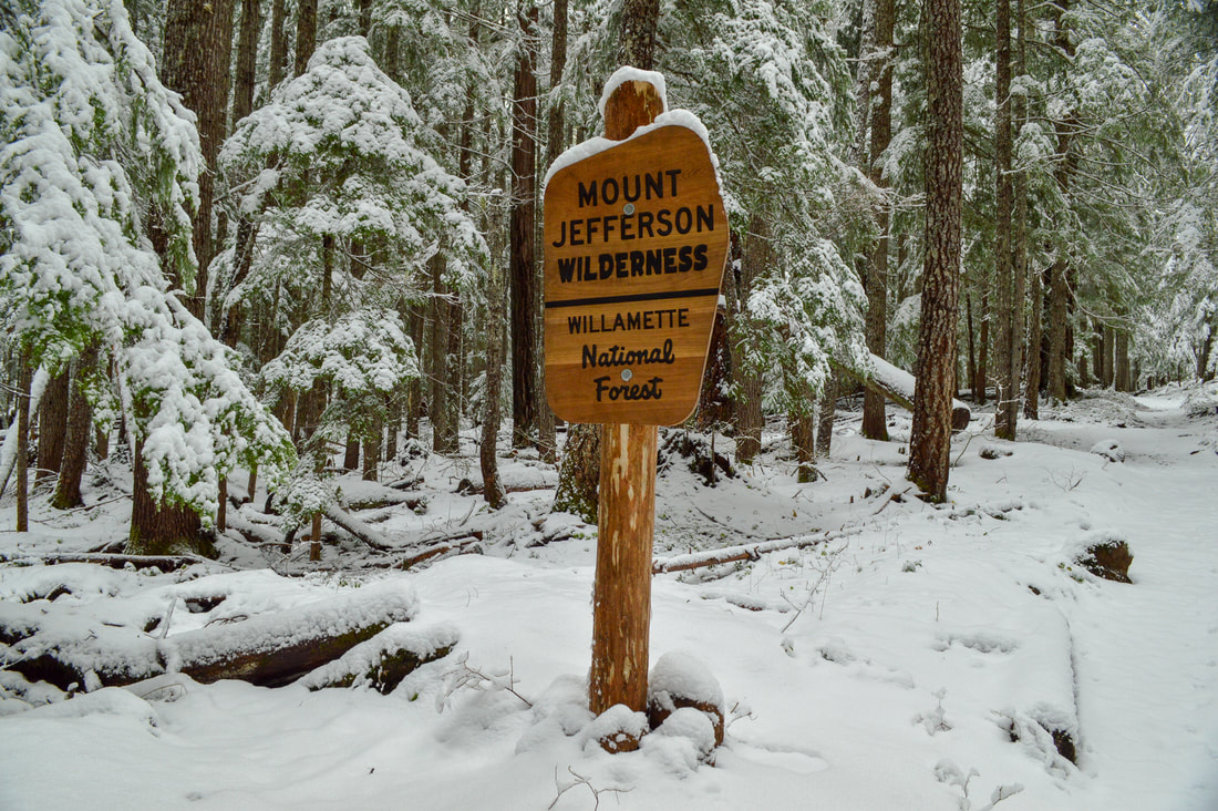 Mt. Jefferson Wilderness sign