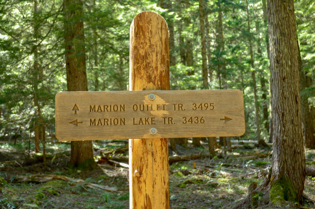 Marion Lake trail sign