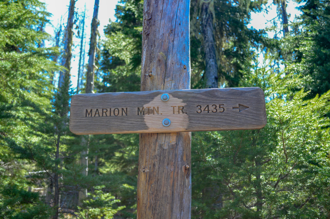 Marion Mountain trail sign