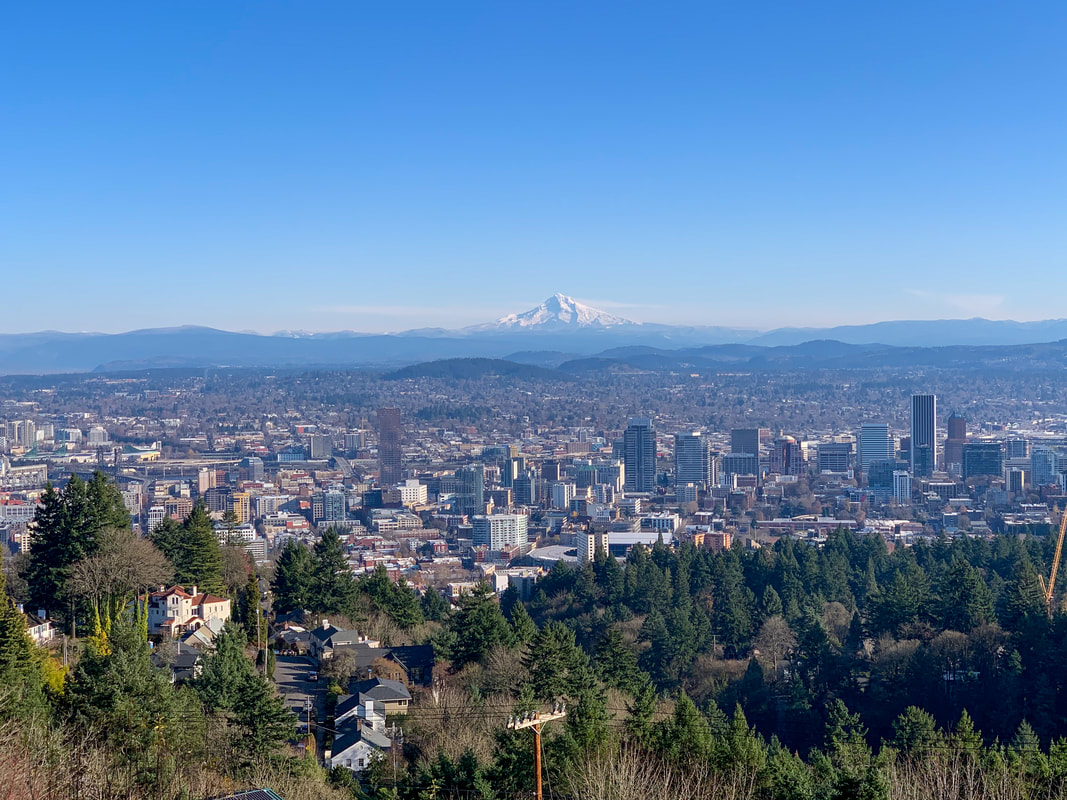 Mt. Hood view from Pittock Mansion