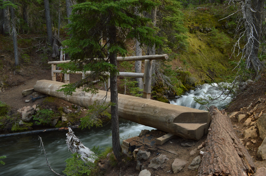 North Fork Trail bridge Bend Oregon