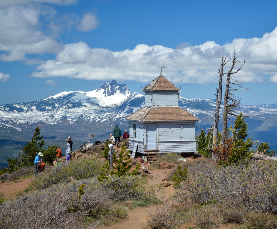 Old fire lookout at Black Butte