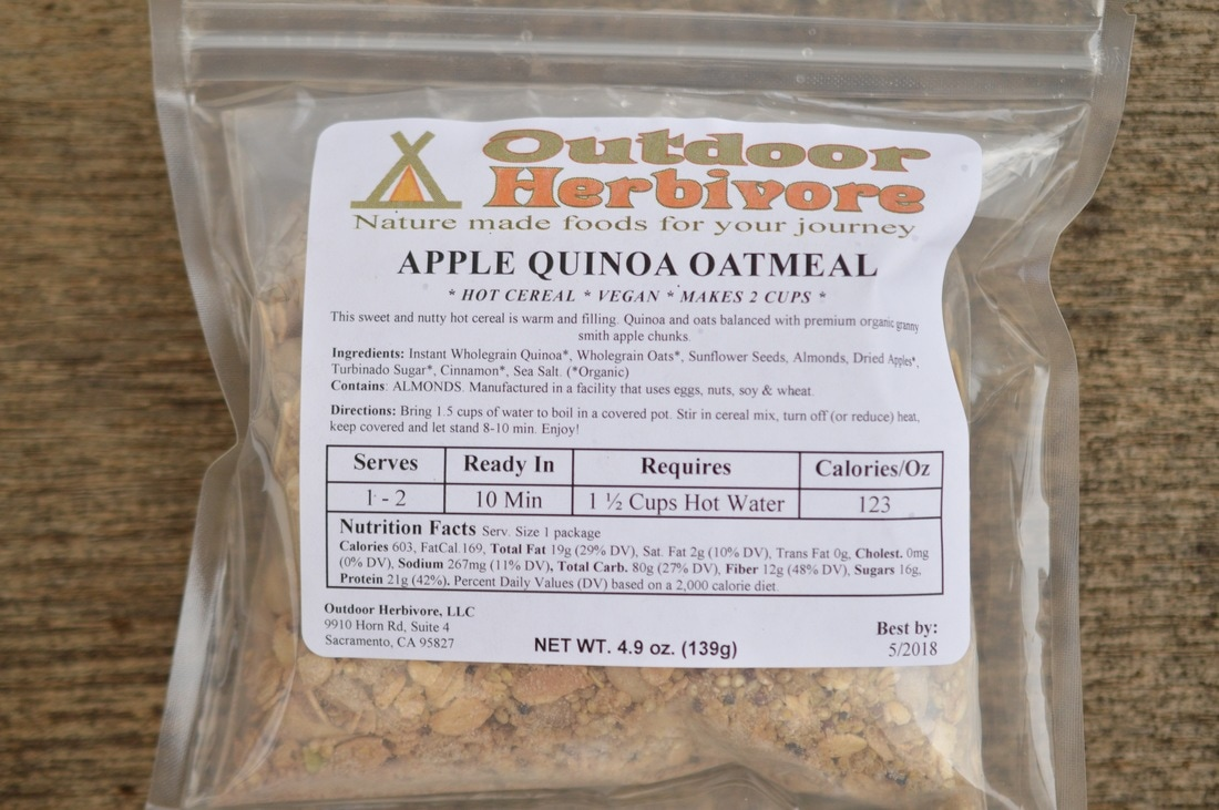 Outdoor Herbivore Apple Quinoa Oatmeal