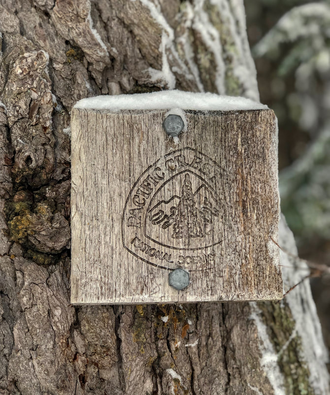 The Pacific Crest Trail marker