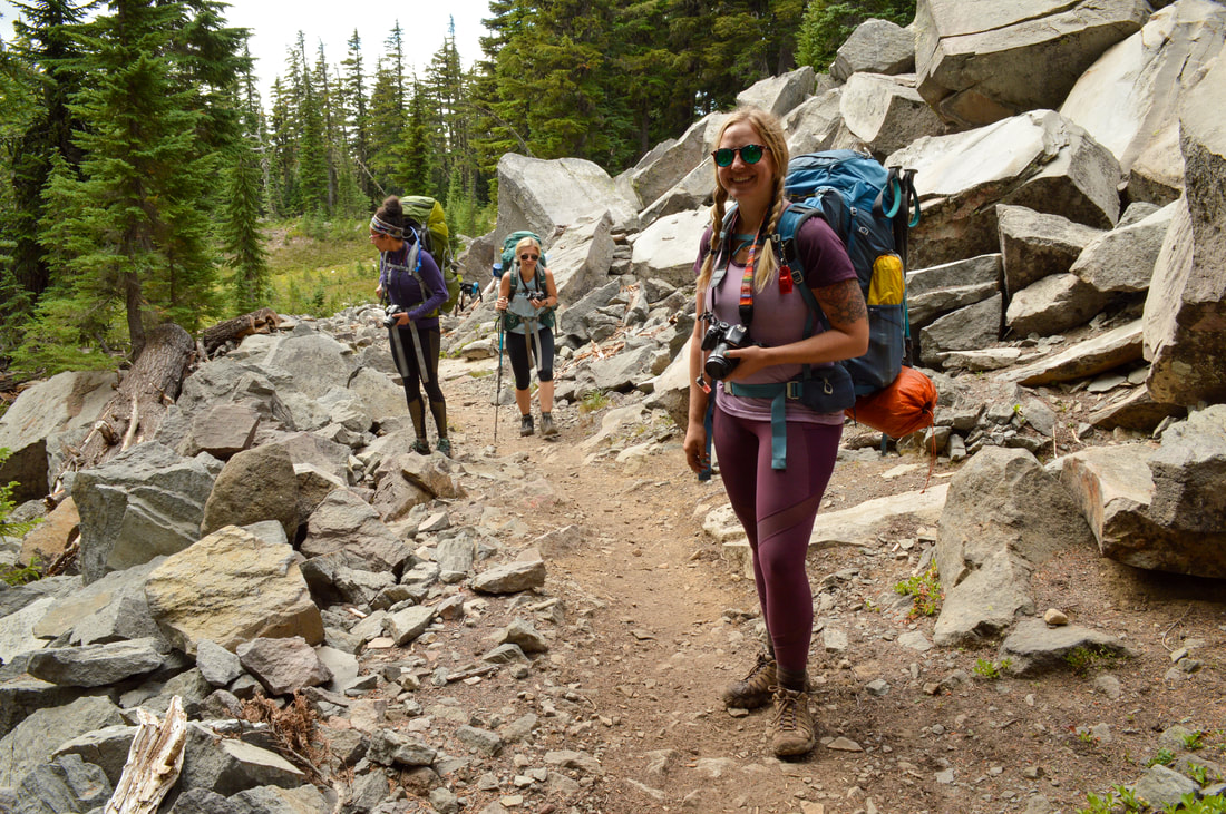 Pacific Crest Trail on the way to Jefferson Park
