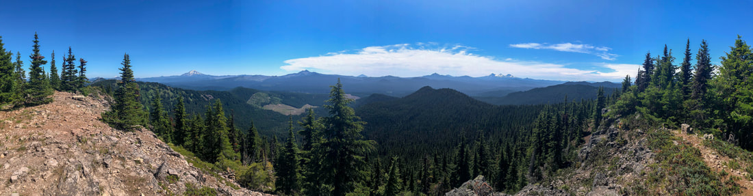 Panorama from Crescent Mountain summit