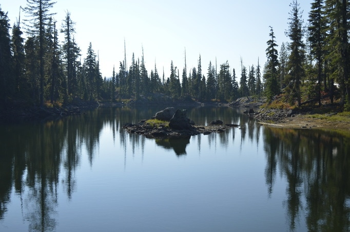 Notch Lake in the Diamond Peak wilderness