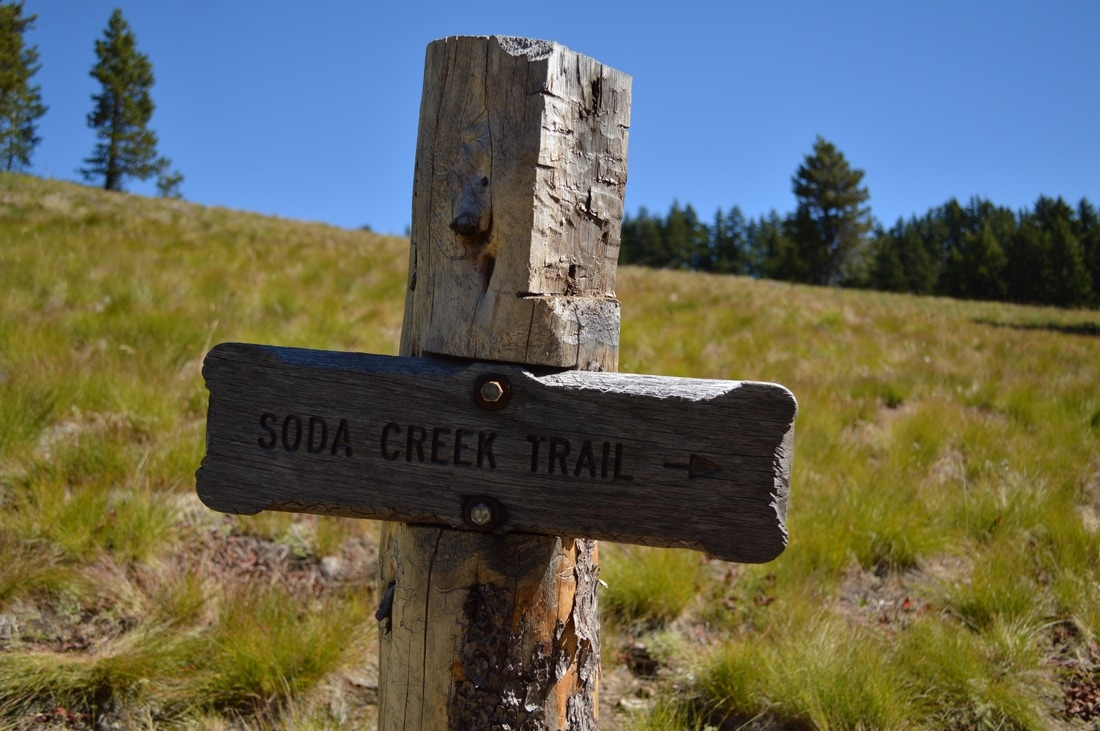 Soda Creek trail sign