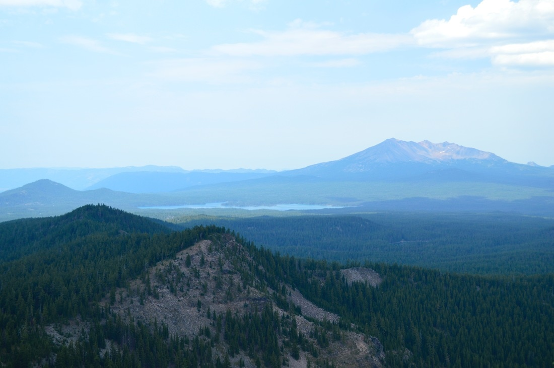View of Diamond Peak from Cowhorn Mountain