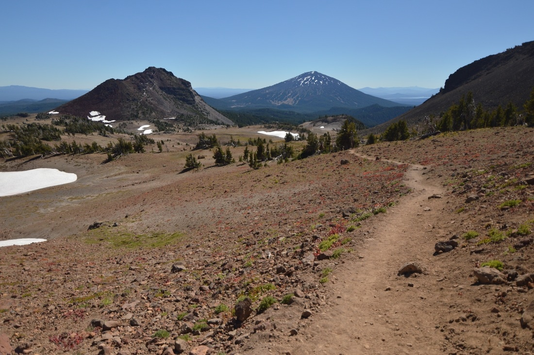 View of Mt. Bachelor from Broken Top trail