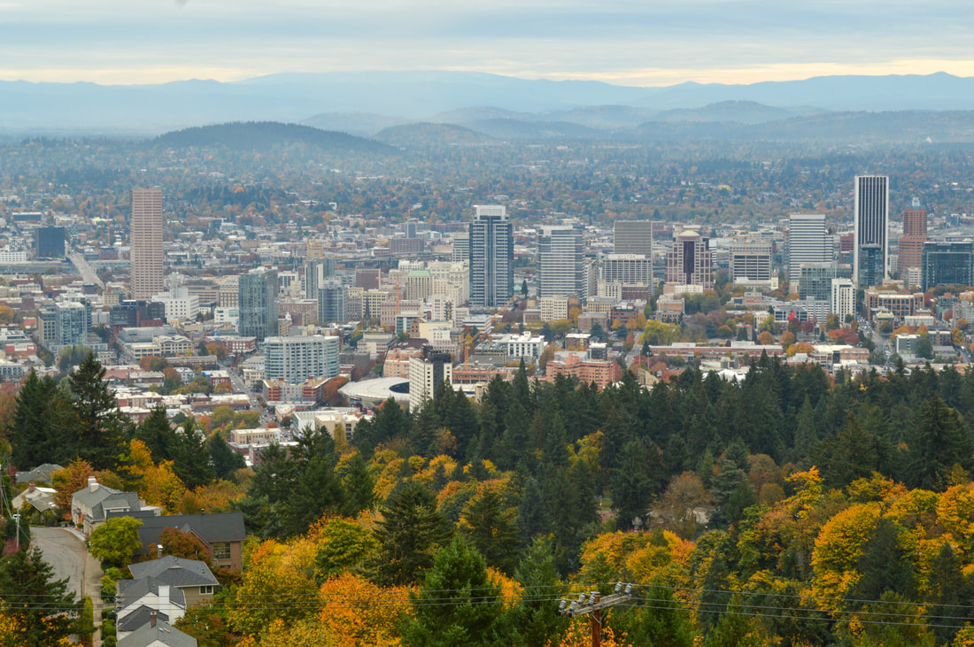 Viewpoint from Pittock Mansion in the fall