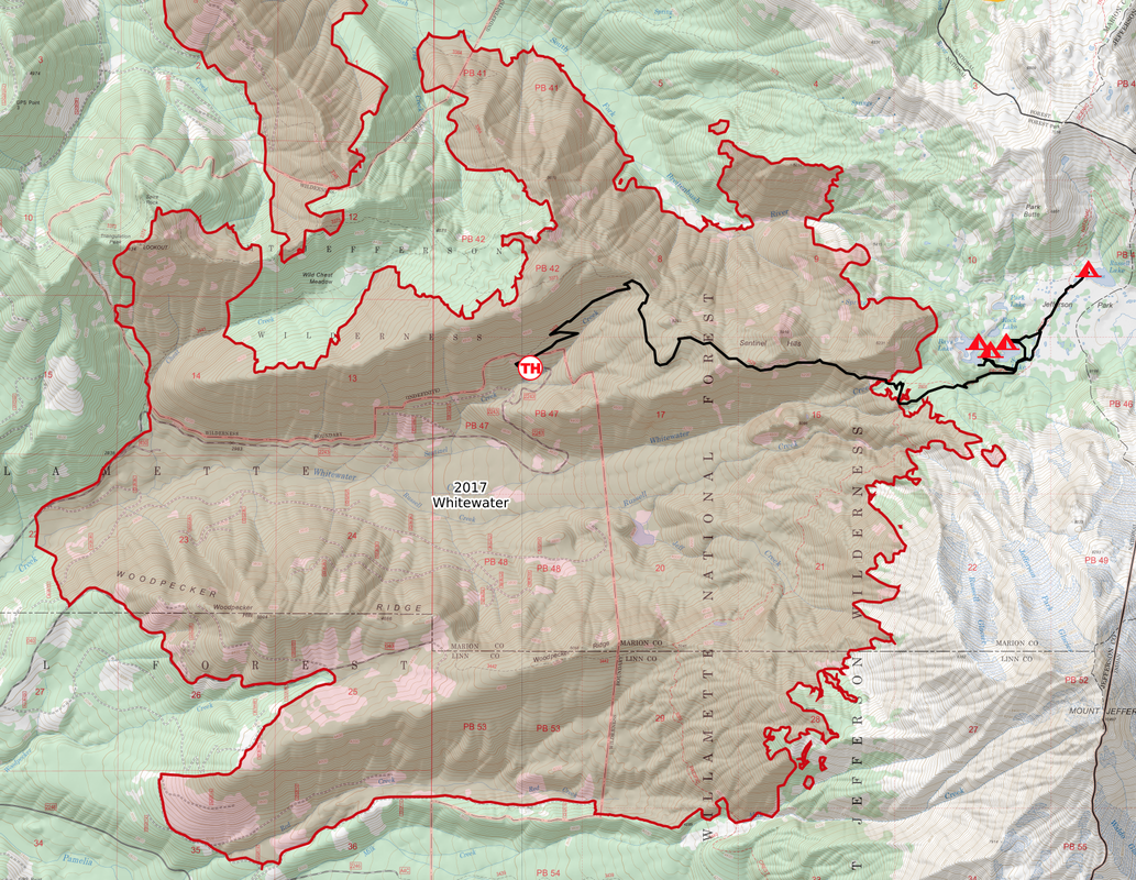 Whitewater Fire map